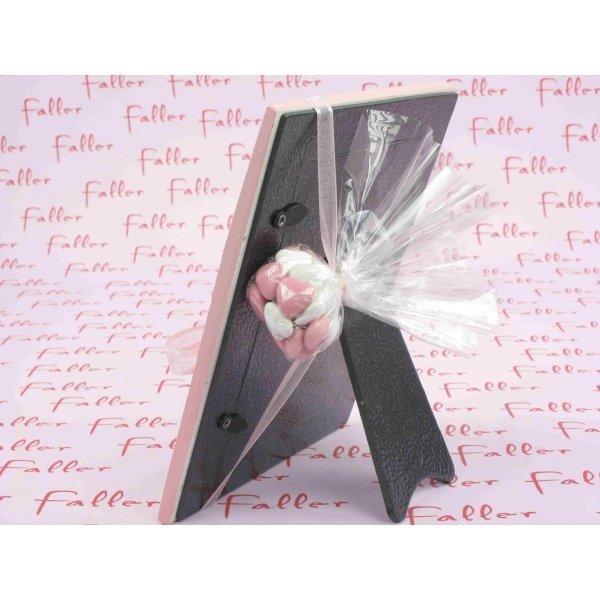 cadre photo rose toiles avec drag es bapt me fille. Black Bedroom Furniture Sets. Home Design Ideas