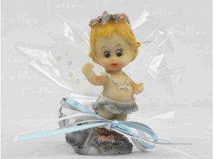 Figurine bébé elfe garçon avec dragées baptême