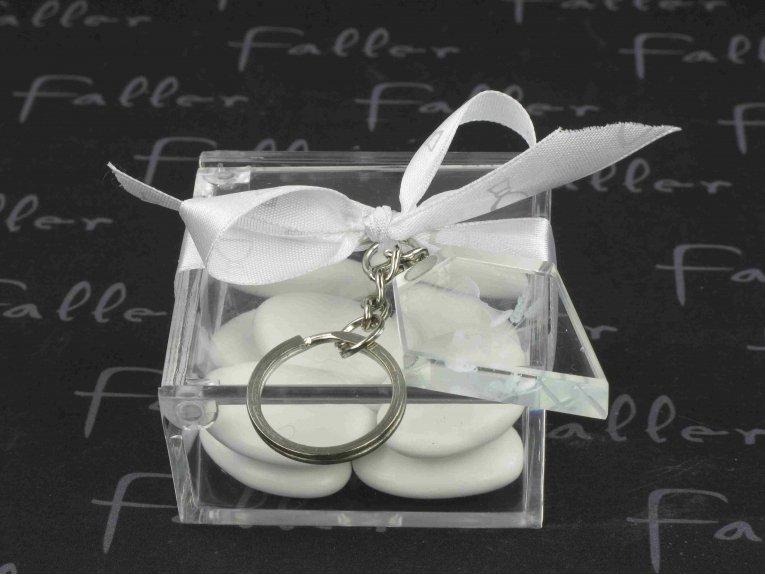 Boite  communion avec porte-clés inclusion calice