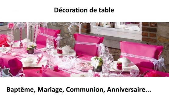 d co de table originale pour bapt me et mariage. Black Bedroom Furniture Sets. Home Design Ideas