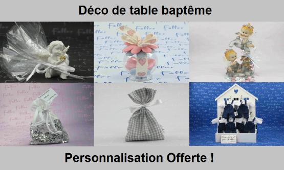 Déco table Baptême