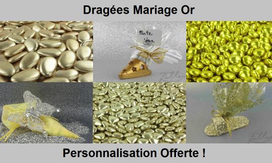 Dragées Mariage Or