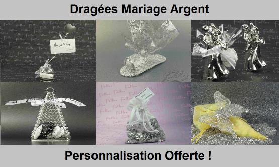 Dragées Mariage Argent