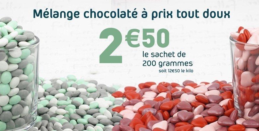Un mélange chocolaté à prix tout doux
