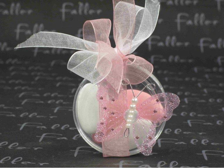 boite drag es mariage papillon paillet rose et perles. Black Bedroom Furniture Sets. Home Design Ideas