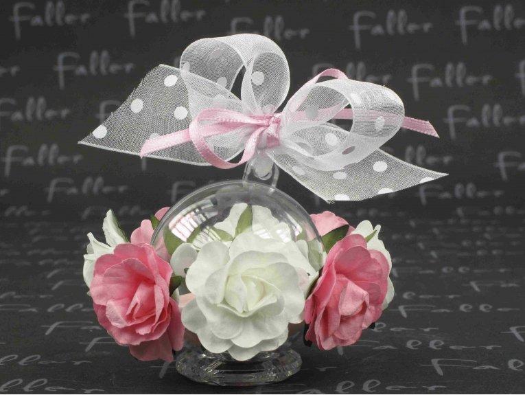 boule fleurs roses et blanche et drag es mariage. Black Bedroom Furniture Sets. Home Design Ideas