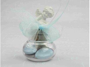 Dragées garçon dans bocal avec petit ange