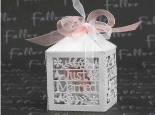 Boite Just Married avec dragées de mariage