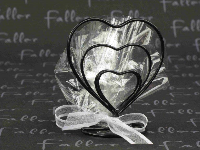 Double coeur porte nom noir