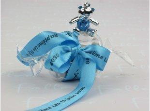 Bonbon plexi avec ours bleu
