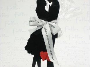 Couple dansant robe courte support à dragées