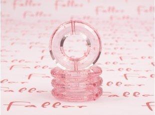 Socle anneau rose pour boule plexi