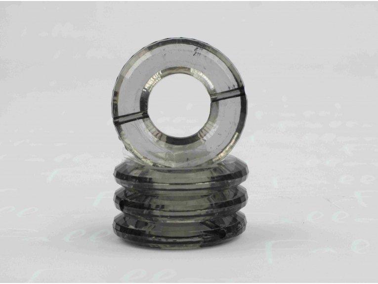 Socle anneau gris pour boule plexi