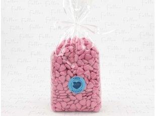 Dragees mini-coeur fuschia (1 kg)