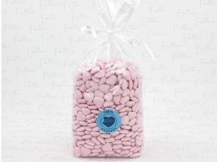 Dragees mini-coeur rose kilo