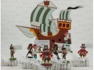 Bateau pirate centre de table