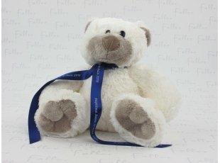 Ours en peluche blanc pour baptême