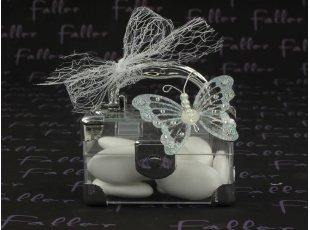 Petite mallette avec papillon souvenir de communion