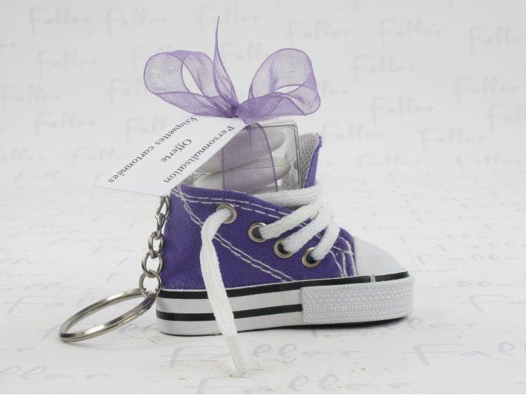 Basket toile violette avec  dragées