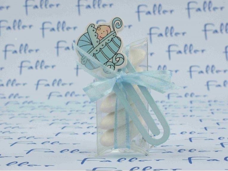 Pince de baptême sur boite avec dragées