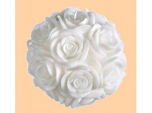 Bougie roses sculptées