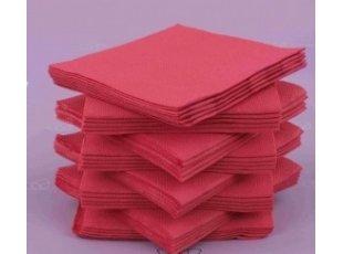 Servitte cokatail fuschia  paquet de 40 pièces