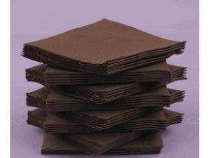 Servitte cokatail marron  paquet de 40 pièces