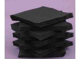 Servitte coktail noire paquet de 40 pièces