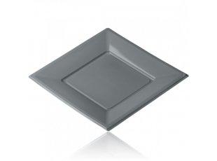 Grande assiette en plastique couleur gris
