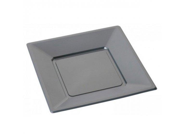 Assiettes plastique grise (petit modele)