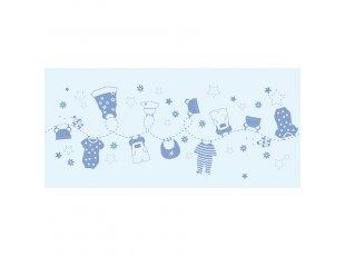 Chemin de table pyjama bleu