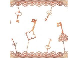 Chemin de table clefs  bronze