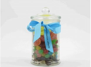 Bocal garni de bonbons sans gélatine de porc