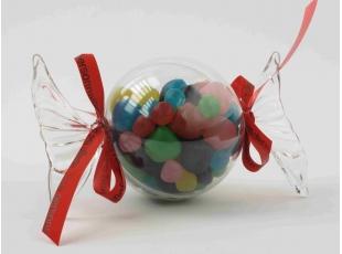 Bonbon plexi rond avec bonbons assortis