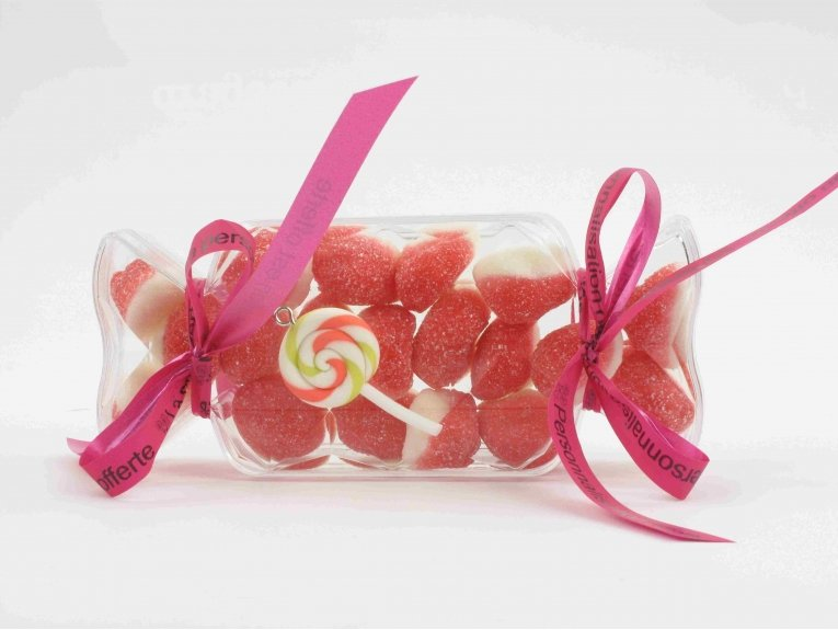 Bonbon plexi avec bonbons sans gélatine de porc