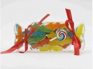 Bonbon plexi plat avec assortiment de bonbons