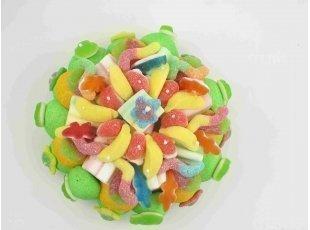 Gateau de bonbons vert