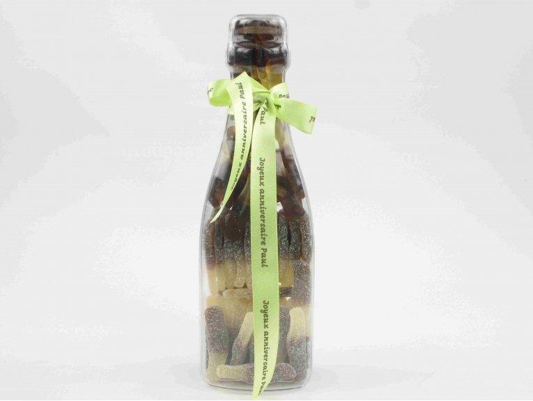 Bouteille géante en plexi avec bonbons bouteilles cola