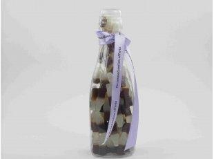 Bouteille plexi garnie de bonbons Vegan (500 gr.)