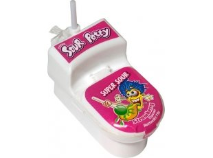 Sour potty toilette rose ise