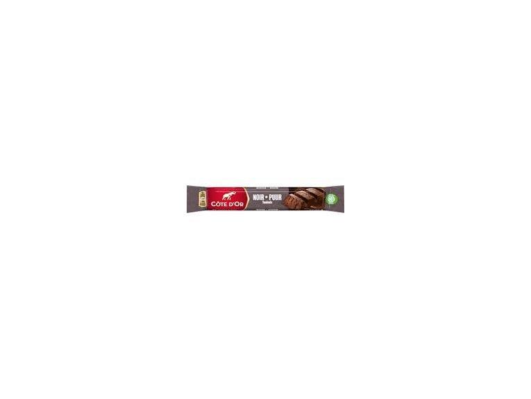 Barre cote d or chocolat noir fourre praline