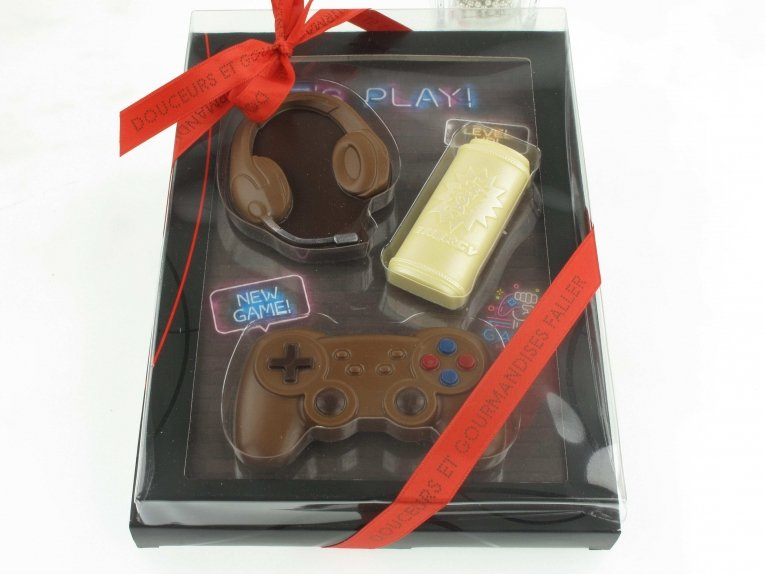 Tableau manette jeu en chocolat