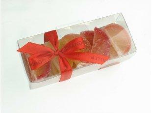 Tranche de fruit  au goût gelé délicatement sucré.