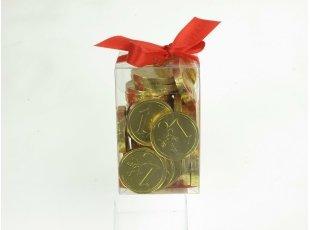Boite de pièces d or en Chocolat