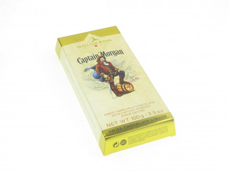 Tablette de chocolat alcool Captain Morgan
