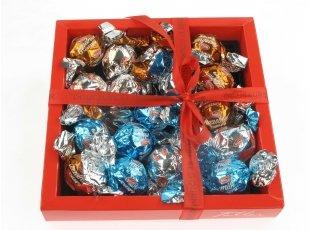 Écrin de boule de Noël au chocolat