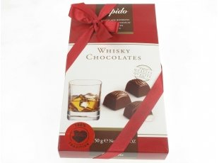 Coffret chocolats fourrés au Whisky