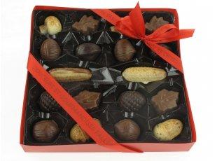 Fruits d'automnes au chocolat fourrés pralinés