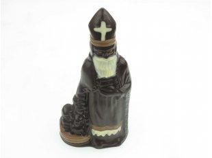 Saint Nicolas en chocolat noir décoré