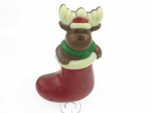 Elan de Noël dans sa botte lait coloré